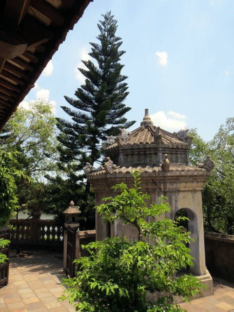 Vietnamese trees and pagodas