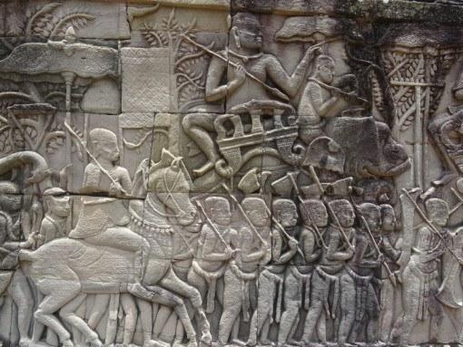 Bas reliefs at Angkor Wat