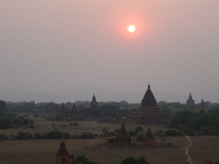 Bagan at dusk - insidevietnam Tours