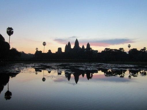 Angkor at sunrise