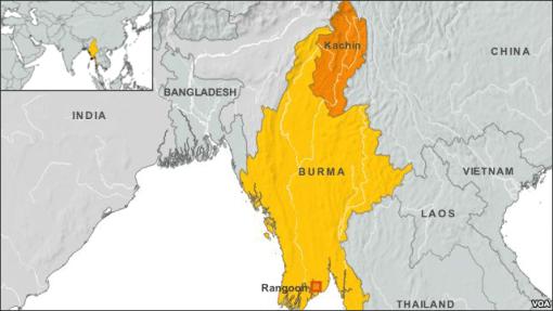 Kachin state map - InsideBurma Tours