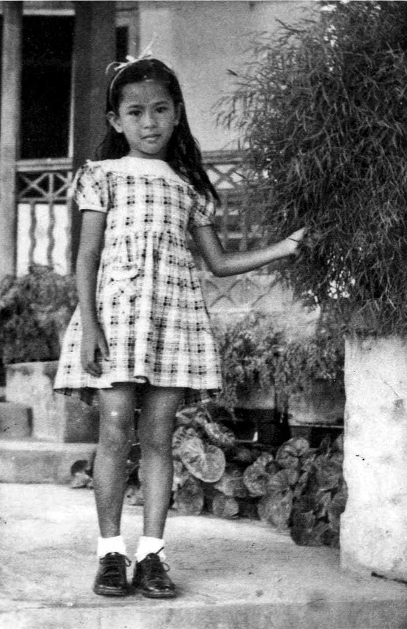 Aung San Suu Kyi as a child