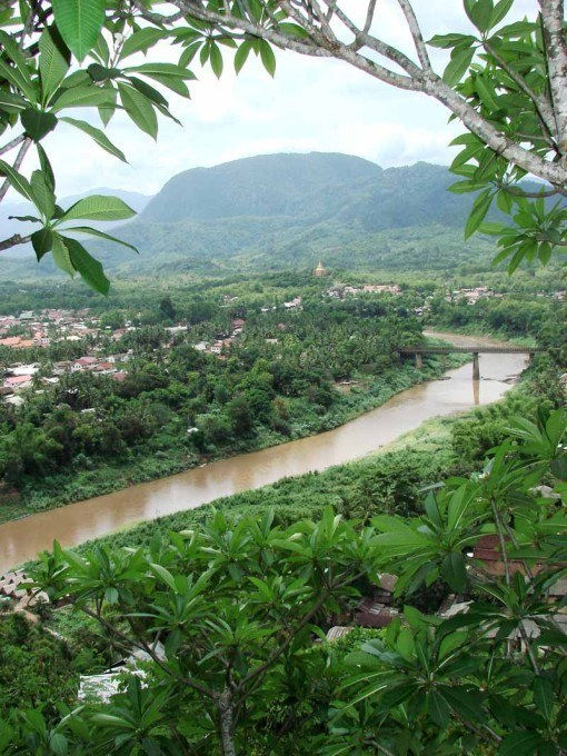 The view over Luang Prabang