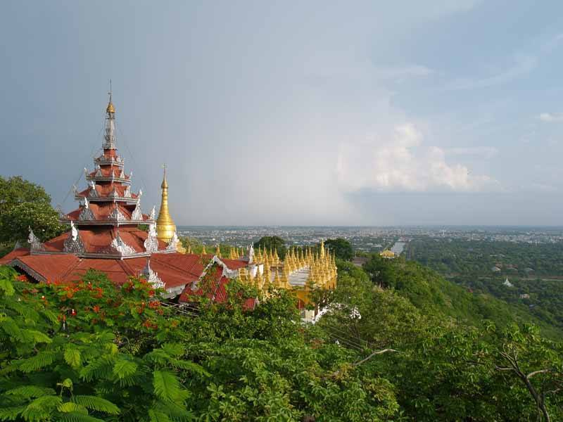 The beautiful green view from Mandalay Hill