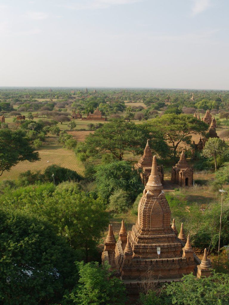 View of the plains over Bagan InsideBurma Tours