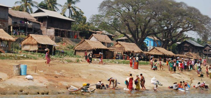 Life unfolds on the banks of the Chindwin River