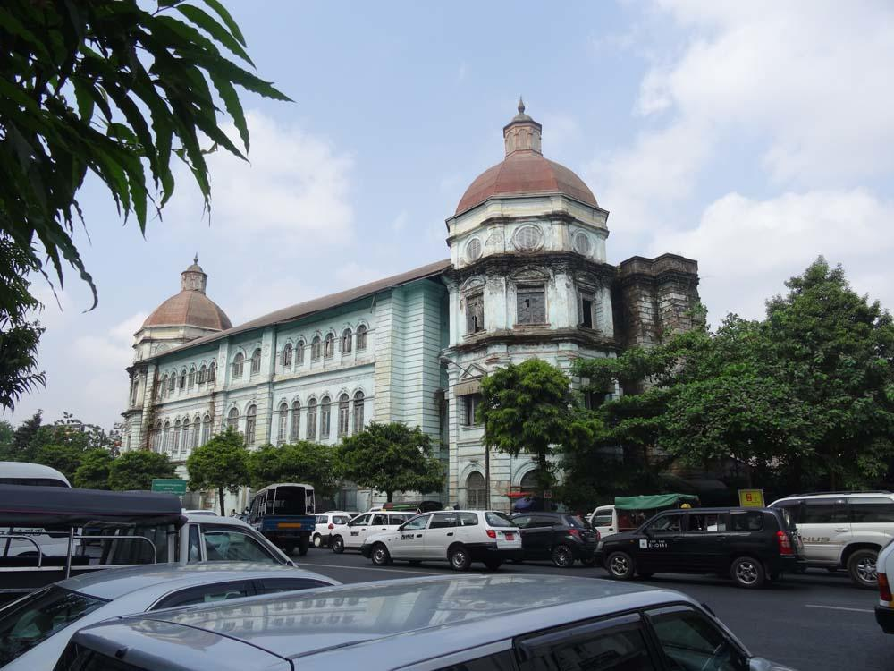 Admire Yangon's faded colonial glory