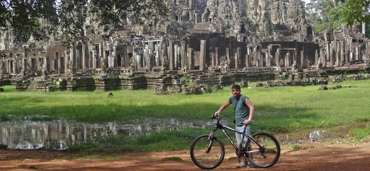 Cycling in Angkor, Cambodia