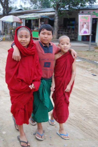 It's easy to make friends in Burma