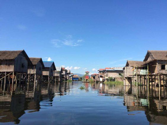 """One of Inle's """"streets"""""""