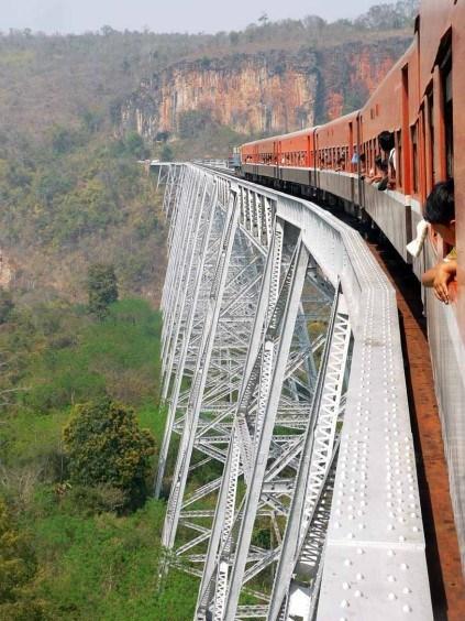The breathtaking Goteik Viaduct
