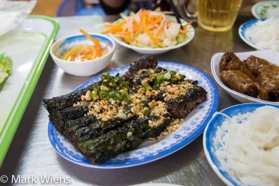 Bo la lot, Vietnamese street food