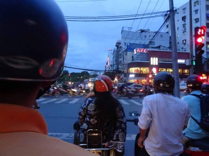 Zip through the traffic on a Vespa tour in Saigon