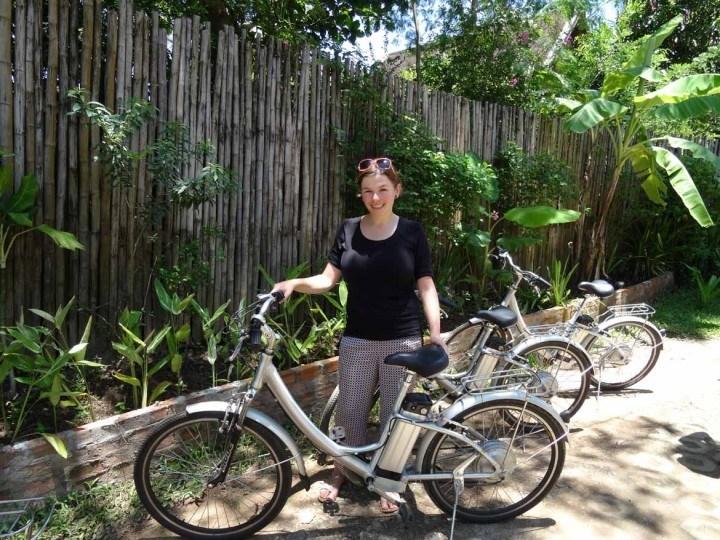 E-biking in Luang Prabang