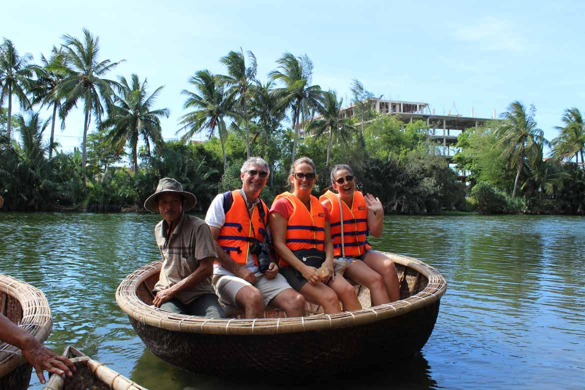 Basket boating on Hoi An's river