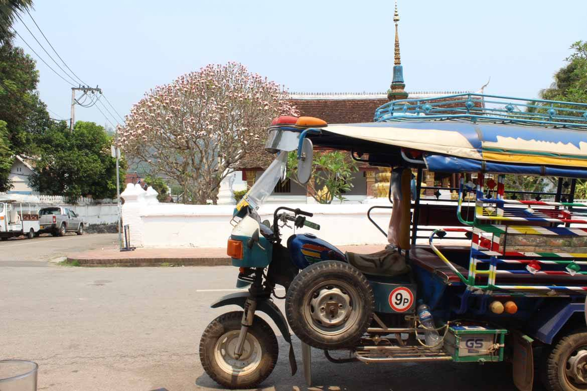 Colourful tuk-tuks in Luang Prabang