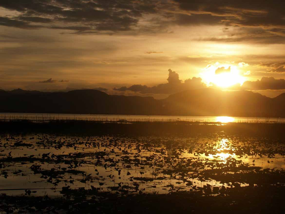 Sunset over Inle