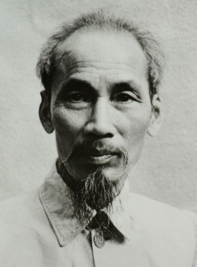 Perhaps the most famous image of Ho Chi Minh, taken c. 1946