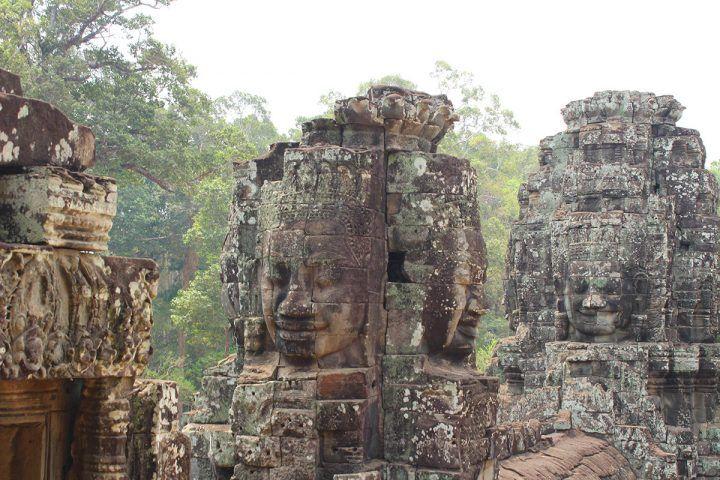 Bayon faces in Cambodia