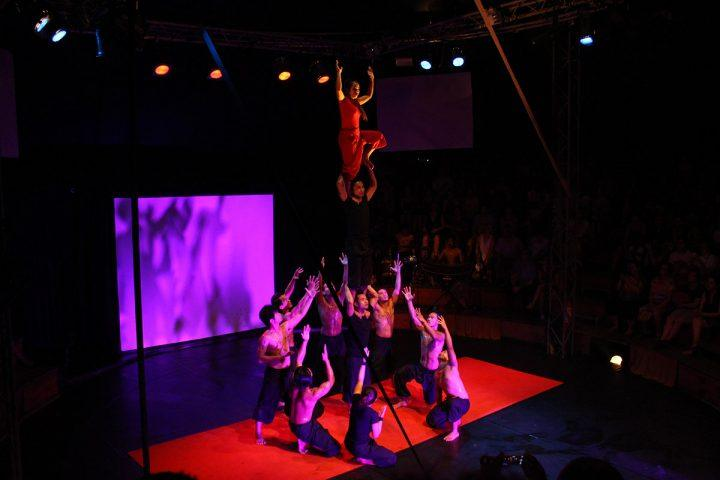 A group of men performing at Siem Reap's Phare Circus