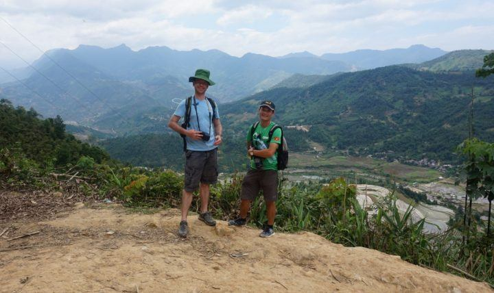 Colin and Mr Tien, admiring the beautiful views