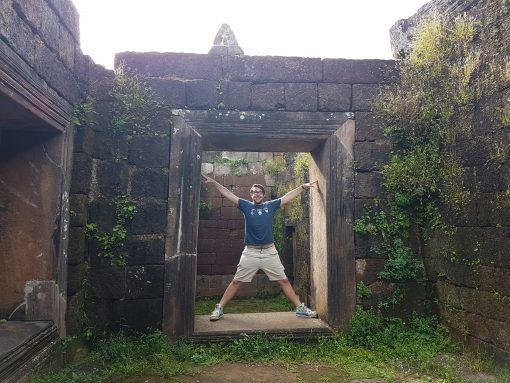 Dylan enjoying Wat Phou, Laos
