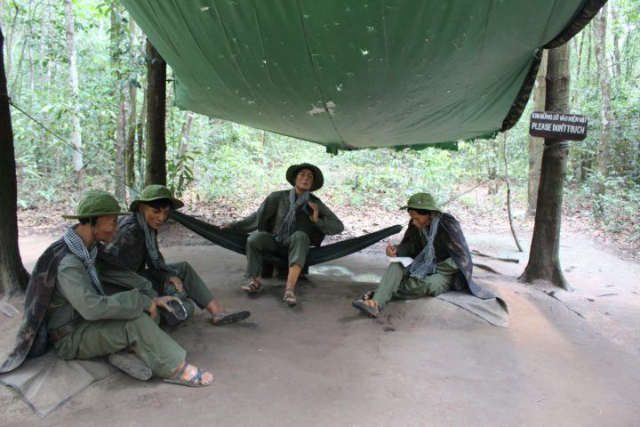 Models of Viet Cong soldiers at Cu Chi Tunnels