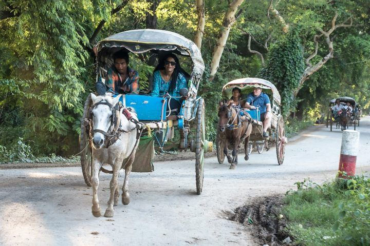 Small Group Tour in horse and carriage in Ava, Myanmar (Burma)