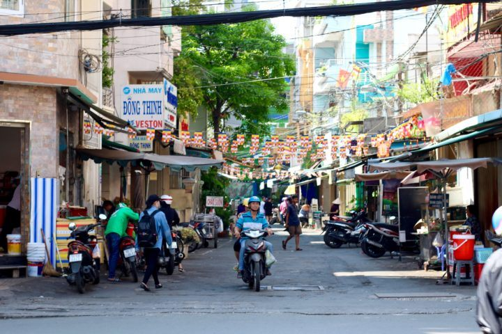 Backstreets and market Ho Chi Minh City Vietnam