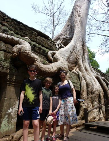 Ta Prohm, family travel at the Angkor temples in Cambodia