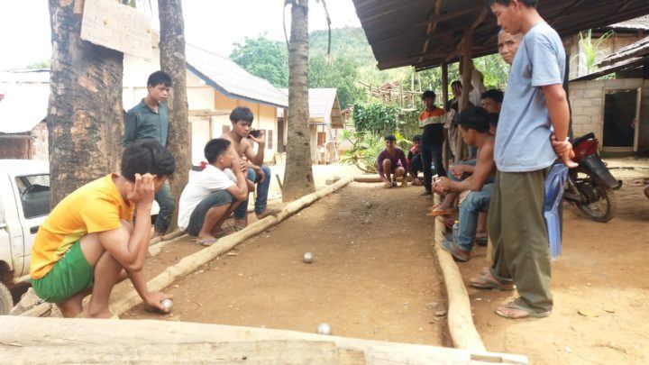 Petanque in Laos village