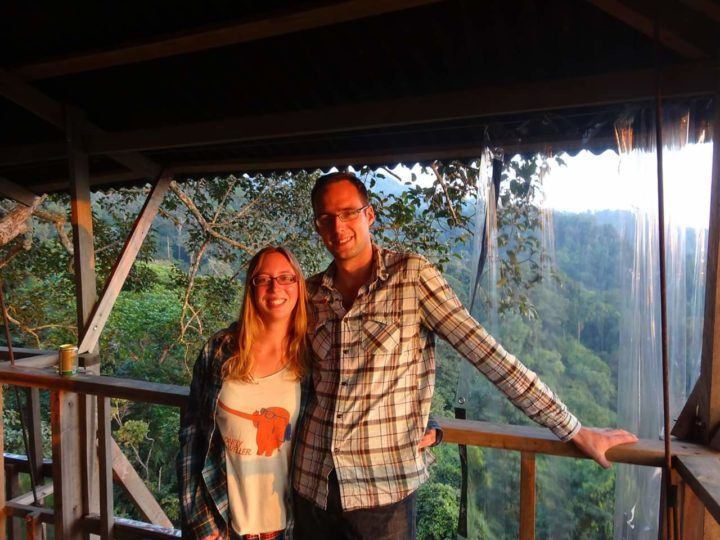 Couple in a treehouse in Laos