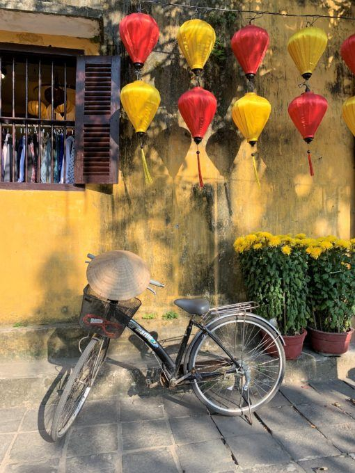 Bicycle and lanterns in Hoi An, Vietnam
