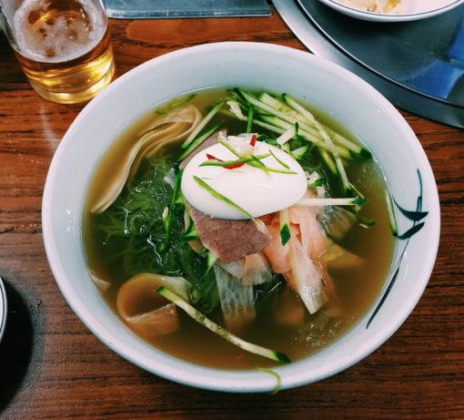Naenmgyeon south korean food